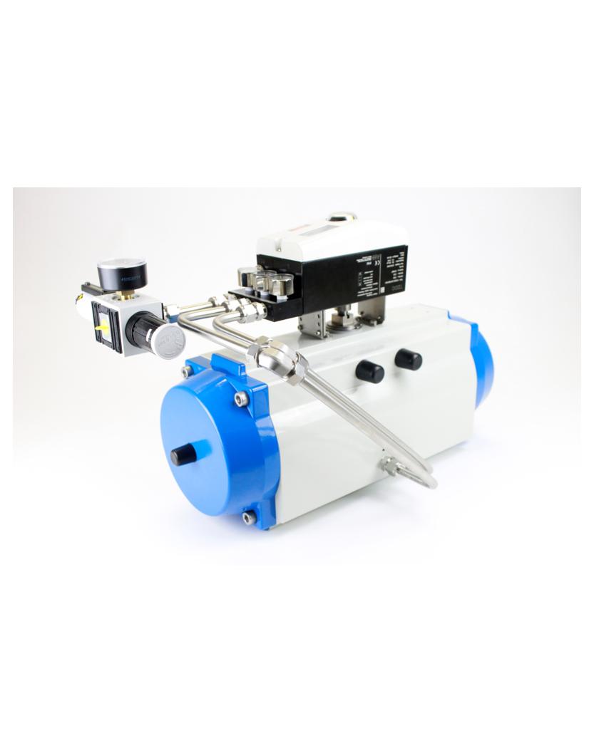 Pneumatik-Schwenkantrieb mit Stellungsregler und Filterregler