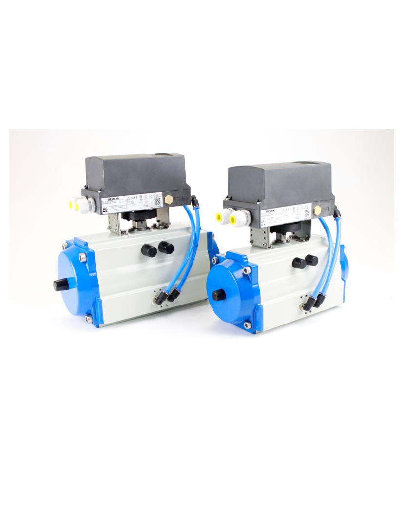 Pneumatik Schwenkantrieb mit Siemens Stellungsregler